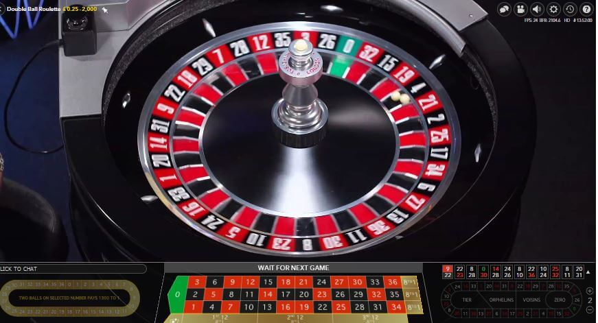 live roulette double ball win