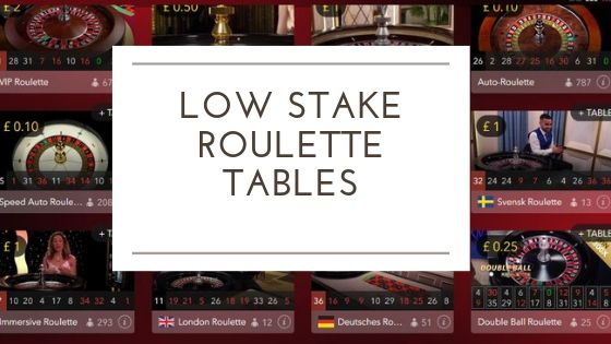 Low stakes roulette image