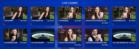live casino games at All British Casino