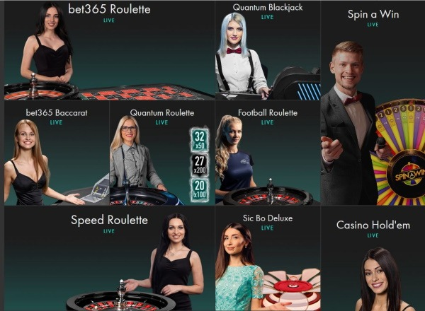 bet365 live casino landing page